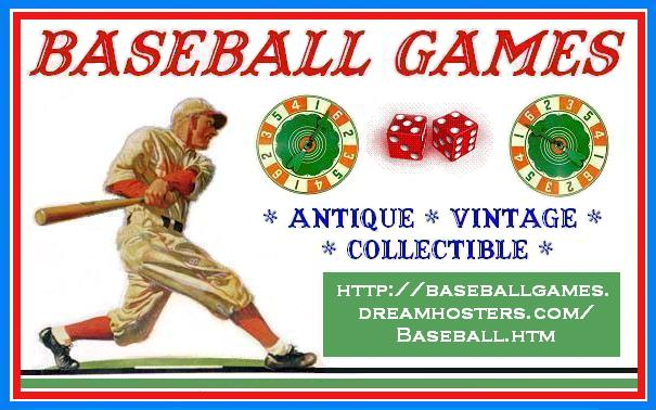 Baseball Games - antique, vintage, collectible