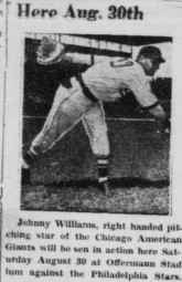 Buffalo Criterion 16 August 1952 - Johnny Williams