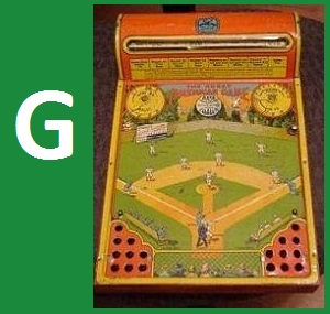 G - The Great American Game - Base Ball, Hustler Toy, 1925