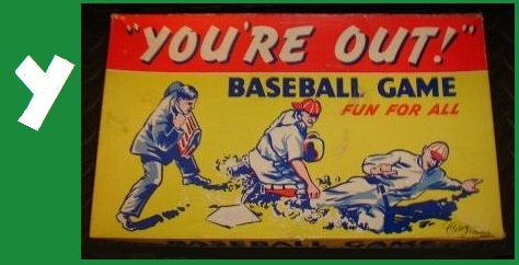 Y - 'You're Out!' Baseball Game, Corey Game Co, 1941