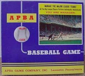 APBA Major League Baseball Game (Apba Game Co, 1970s)