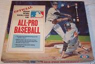 tabletop baseball game - All-Pro Baseball - Ideal, 1969