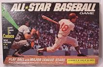 tabletop baseball game - All-Star Baseball - Cadaco, 1968
