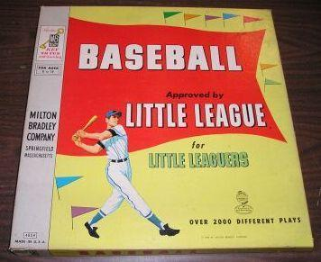 Baseball - Approved by Little League (Milton Bradley, 1958)
