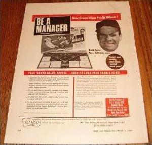 Be A Manager, Bamco, circa 1967 advertisement