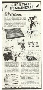 Big League Electric Baseball, Electric Game Co, 1938 advertisement