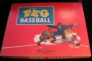 Game of Peg Baseball -- Parker Brothers, 1954