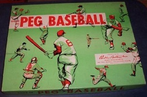 Game of Peg Baseball -- Parker Brothers, 1957