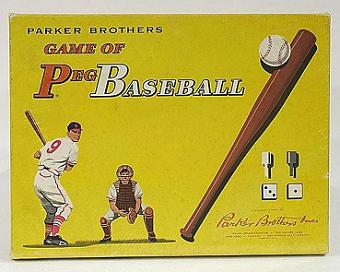Game of Peg Baseball (Parker Brothers, 1961)