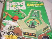 electronic baseball game - Head-to-Head Baseball - Coleco, 1978