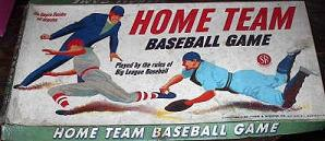 tabletop baseball - Home Team Baseball Game - Selchow & Righter, 1957