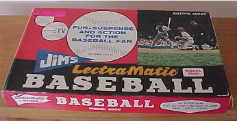 Jim's LectraMatic Baseball - LectraMatic Games, 1960s