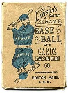 Lawson's Patent Game - Base Ball with Cards (T W Lawson, 1884)