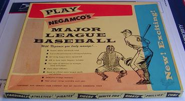 baseball simulation - Major League Baseball - Negamco, 1960s