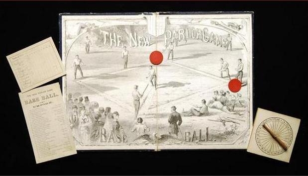 The New Parlor Game ~ Base Ball. (Milton Bradley, 1869)