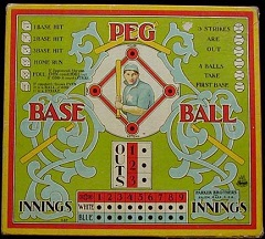 Peg Base Ball -- Parker Brothers, 1908
