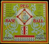 antique baseball game - Peg Base Ball - Parker Brothers, 1908