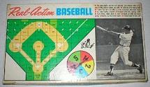 baseball board game - Real-Action Baseball - Real-Action Games, 1966