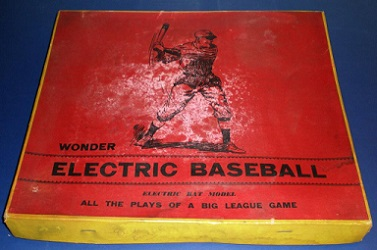 Wonder Baseball Game box, circa 1930s