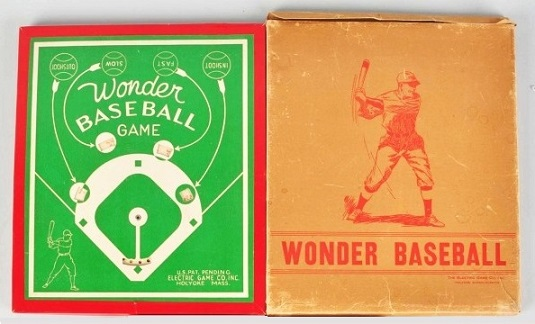 Wonder Baseball Game non-electric version - Electric Game Co, c1940s