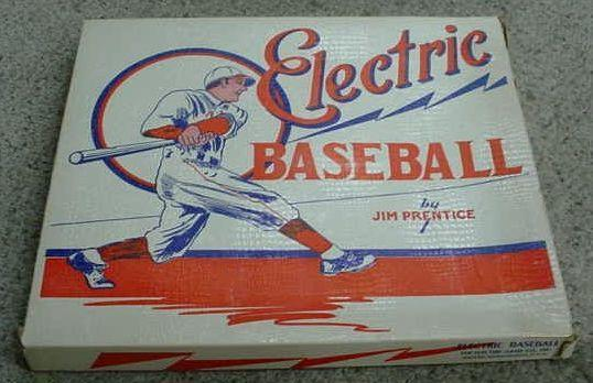 Electric Baseball by Jim Prentice - box, Models E120, 68-B, 48-B, 63-B - 1940s