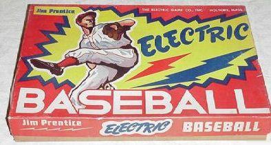 Jim Prentice Electric Baseball Model 42-B box - circa 1950