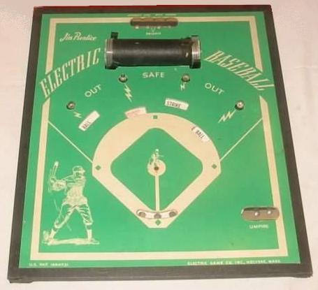 Jim Prentice Electric Baseball 'illo board' - circa 1940