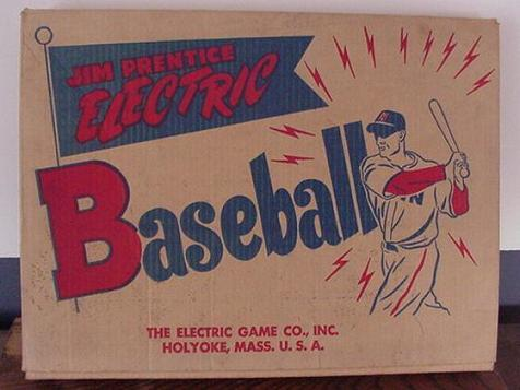 Jim Prentice Electric Baseball - box, Models 73B, 73BN, 509 - 1950s