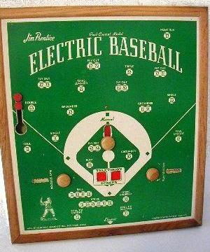 Jim Prentice Electric Baseball Dual Control Model - 1940s