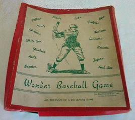 Wonder Baseball Game - Electric Game Co, c1938
