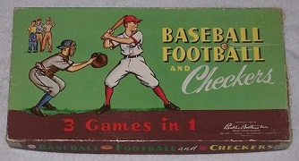 Baseball Football and Checkers -- Parker Brothers, 1957